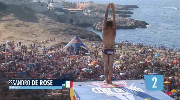 These guys sure know how to dive | Red Bull Cliff Diving Italy