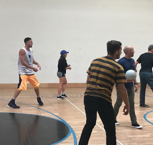 Klay Thompson Playing Dodgeball is Pretty Cool