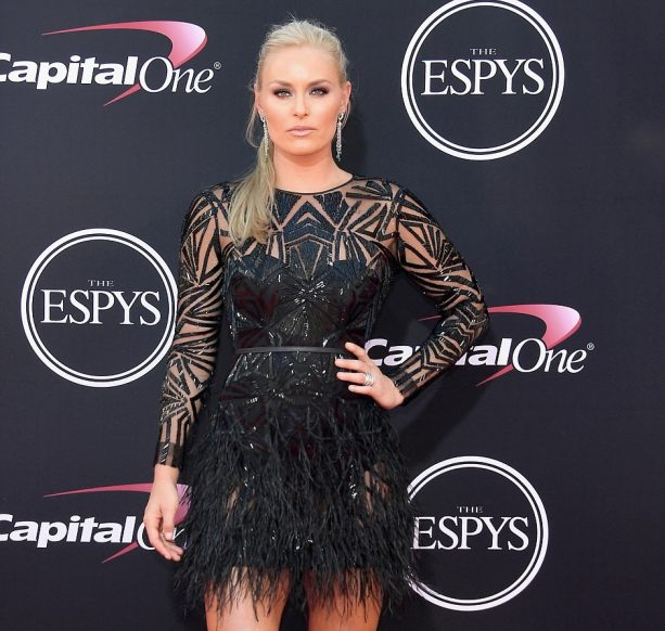 Lindsey Vonn flashes her World Class Gams with Boyfriend on Red Carpet