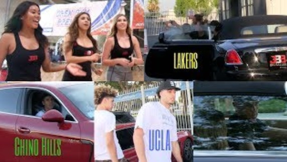 LaMelo Ball Rollin in A Porsche, Liangelo Ball a Ferrari & Lonzo Ball a Rolls Royce