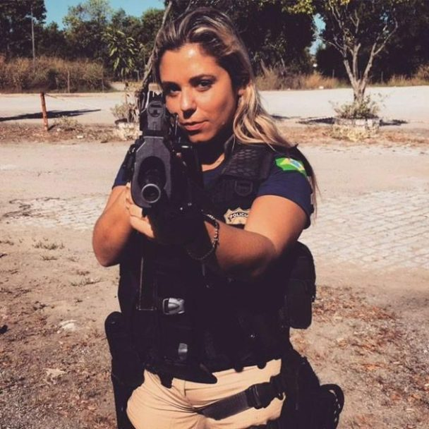 Brazil's 'Hottest Cop' Shoots a Swimsuit Spread
