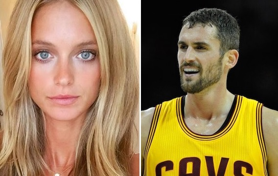 Kevin Love and Model Girlfriend Attend GOT Premiere