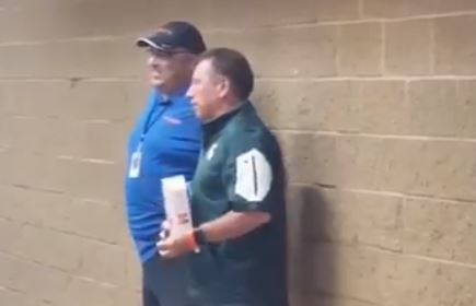 Tom Izzo Eats Food Off Of The Floor