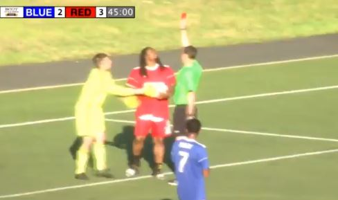 Marshawn Lynch Goes Beast Mode During A Soccer Game