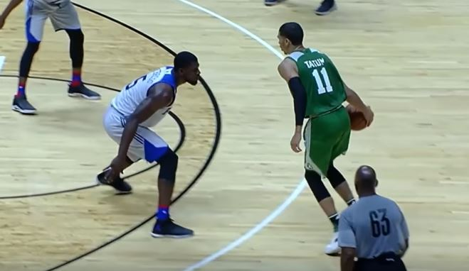 Jayson Tatum Hits A Game Winner In His First NBA Action