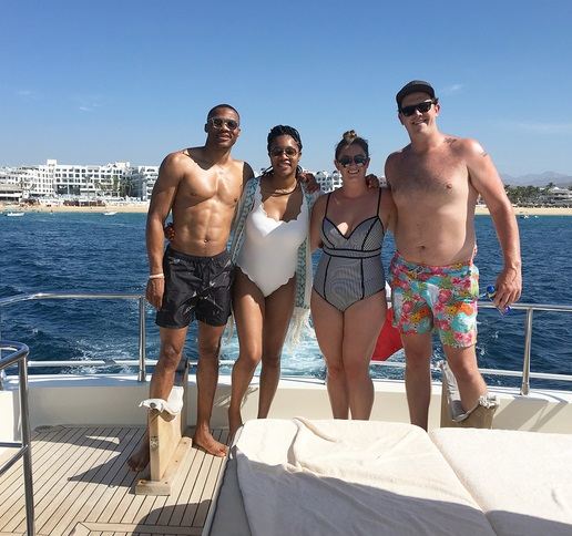 Meanwhile Russell Westbrook is Enjoying his Vacation