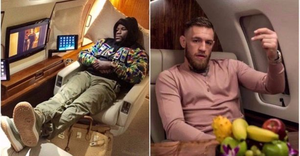 Someone Made up a Rumor Mayweather and McGregor Were Flying Private together