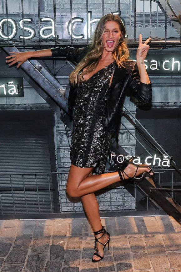 Gisele Parties Up While Tom Stays Working
