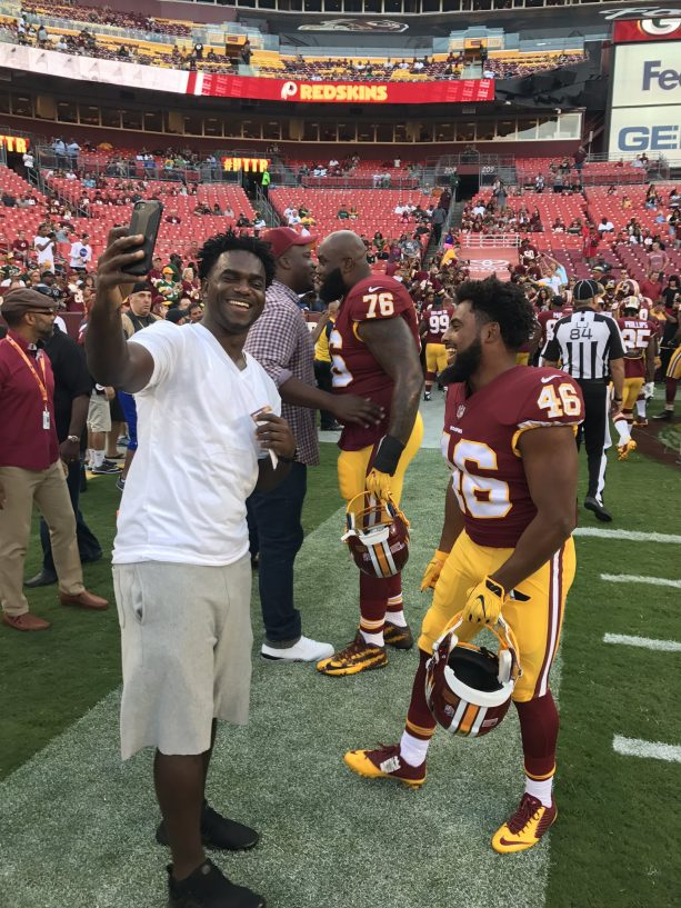 Edgerrin James Taking A Selfie With Nico Marley
