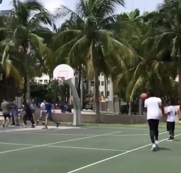 James Harden Does The #DriveByDunkChallenge