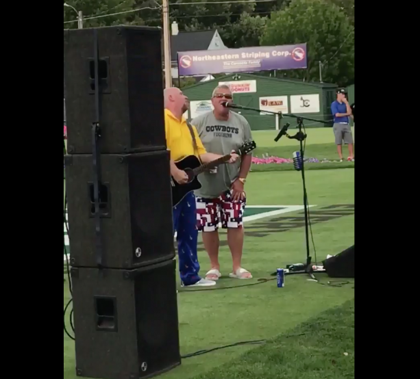 John Daly Out Here Singing Knocking On Heaven's Door