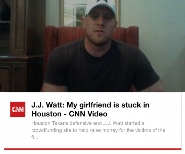 WHAAAA? JJ Watt Worried About His Girlfriend Buying Cookies During The Flood In Houston