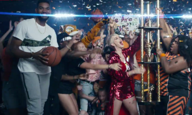 Gronk Makes Cameo in Katy Perry's Latest Video Swish Swish