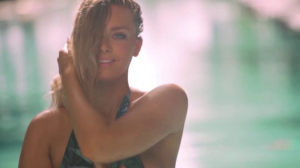 Gronk's Girl Gets Sensual In The Pool For Her Debut