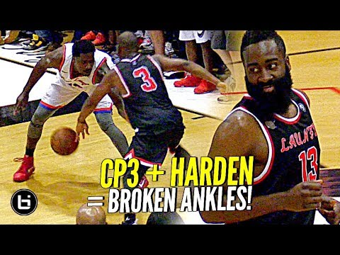 James Harden & Chris Paul TEAM UP at DREW LEAGUE & SHOW OUT