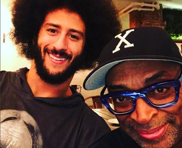 Spike Lee Holding a Rally in Support of Colin Kaepernick