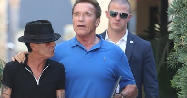 Arnold Schwarzenegger Hits On A Female Photog While Leaving Lunch In Beverly Hills