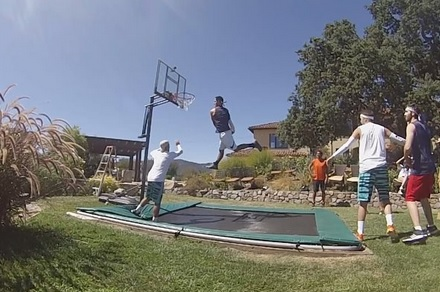 The Coolest Backyard Basketball Game You'll Ever See
