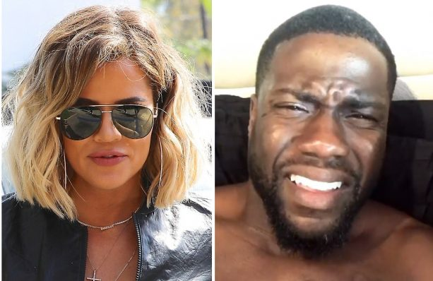 Kevin Hart Caught Checking out Tristan's Lady Khloe's Booty