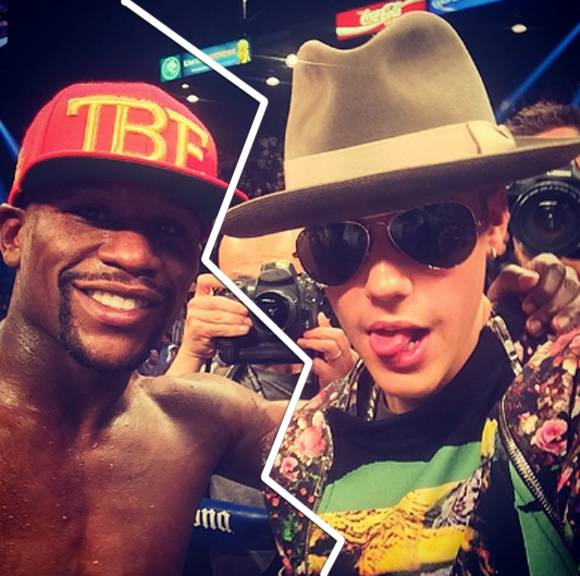 Justin Bieber and Floyd Mayweather Splitsville