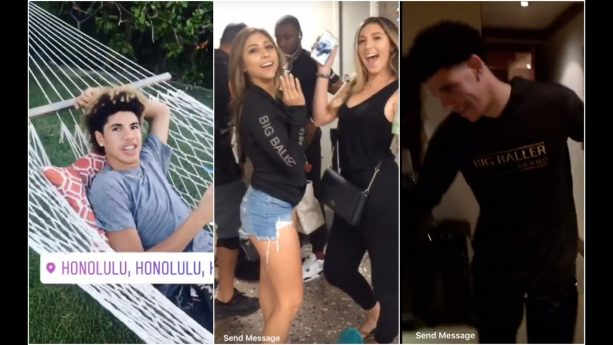 Lonzo, LiAngelo & Girlfriends are Vacationing in Hawaii with LaMelo & Friends