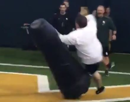 Salty Tackling Dummy Tackled A Baylor Administrator After Losing A Race