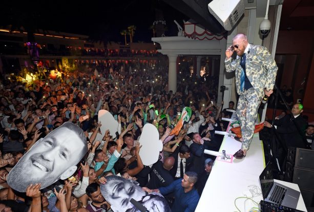 Conor McGregor After-Fight Party at Encore Beach Club at Night