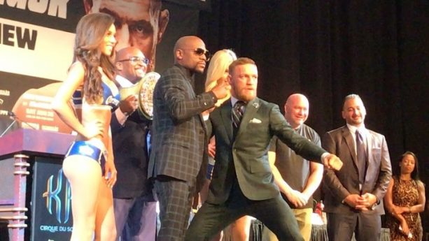 OH SH!T! Floyd and Connor Attack Heckler at Final Press Conference