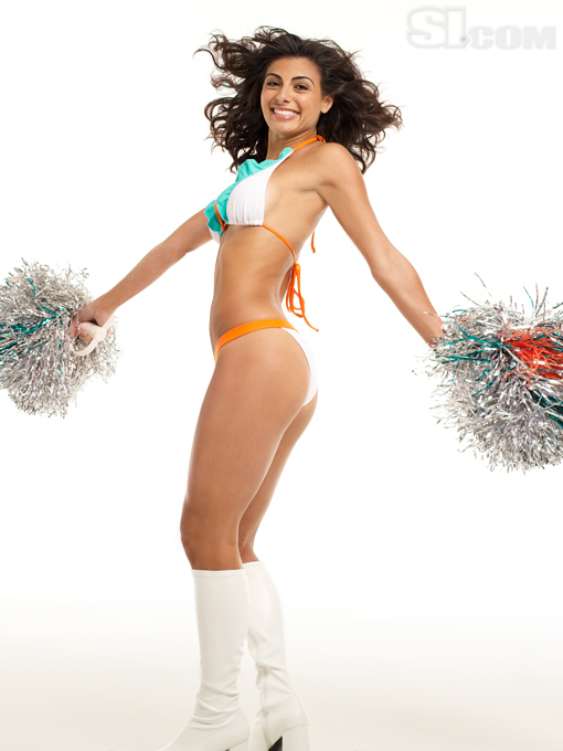 Miami Dolphins' Cheerleader Ireivy Guerra Shows You Her Team Spirit