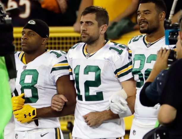 Aaron Rodgers on What Happened During the Team's Locking of Arms