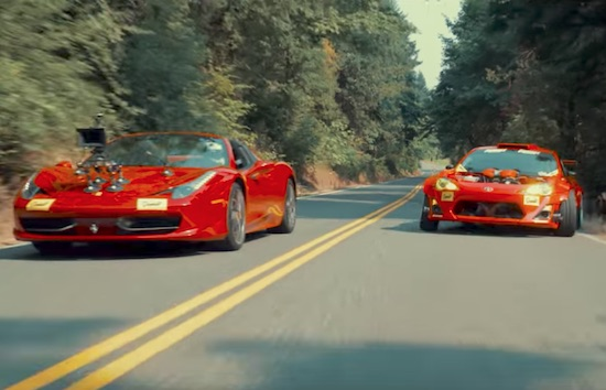 Ferrari-Powered Toyota Drifts A Portland Touge
