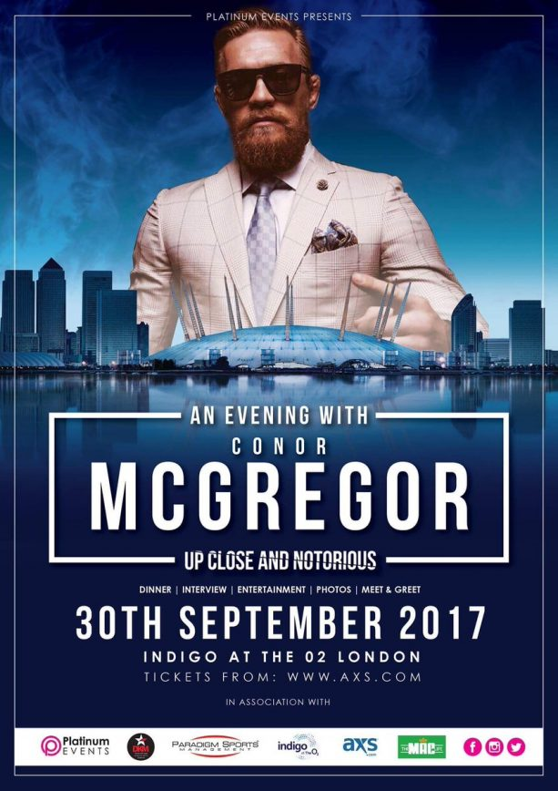 Conor McGregor returns to PPV on Sept. 30