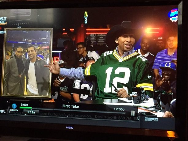Stephen A Smith All Up in Aaron Rodgers' Junk
