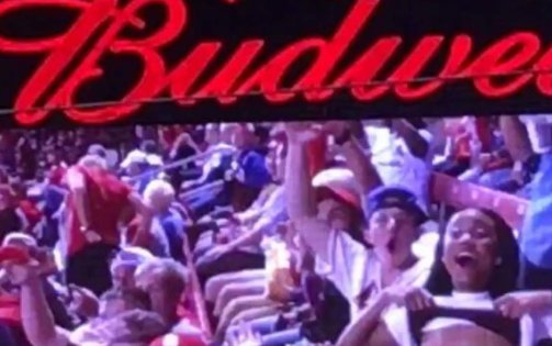 Flashing the Jumbo-tron is a thing in St. Louis