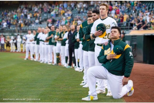 A's Rookie First MLB Player To Take A Knee For The Anthem