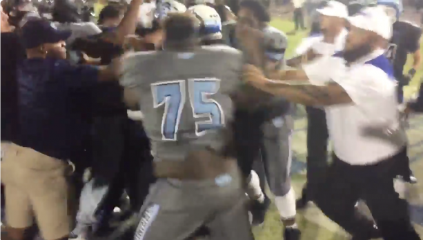Brawl Breaks Out At High School Football Game