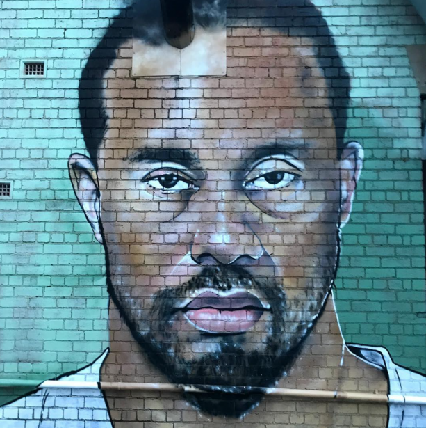Tiger Woods Mugshot Has A Graffiti Mural
