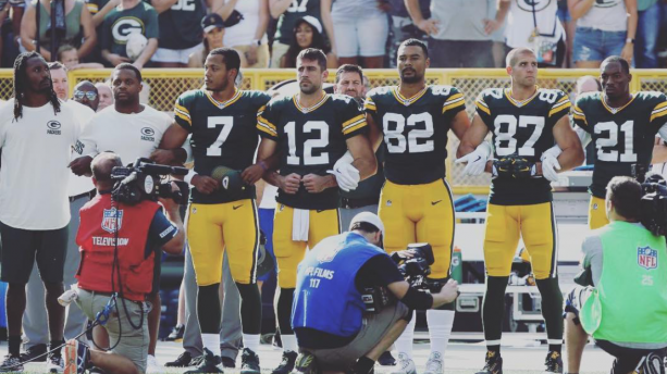 Aaron Rodgers With A Funny Take On Kneeling