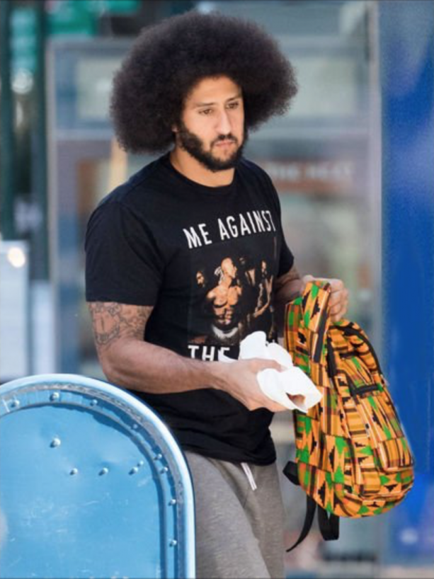 Colin Kaepernick Spotted In 'Me Against the World' T-Shirt