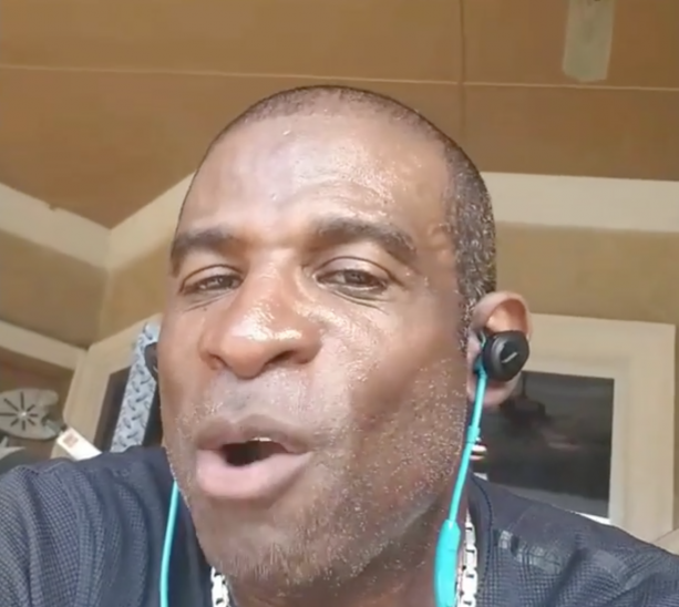 Deion Sanders Gets Hairline Replacement Therapy