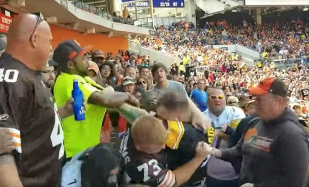 Watch A Steelers Fan Get His Ass Kicked By a Browns Fans