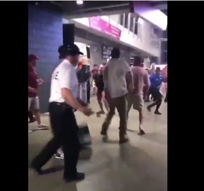 Alabama Fan Throwing Down a Woman in Fight at Bama-FSU