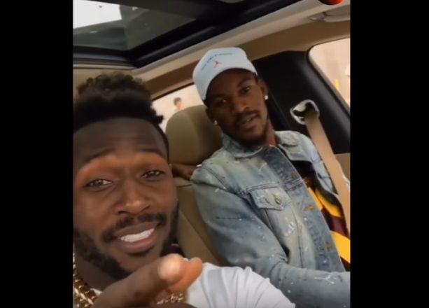 Jimmy Buckets Hanging with Antonio Brown