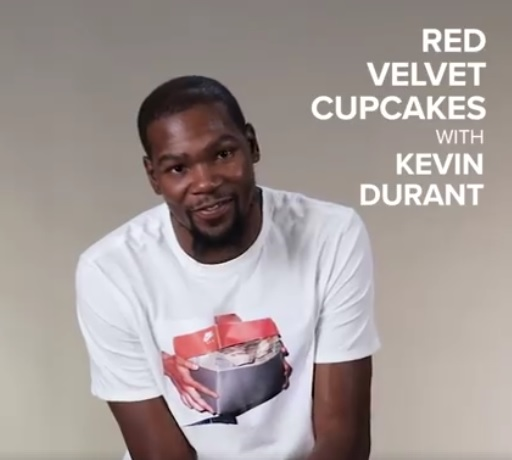 Kevin Durant's Releases one of those Awesome Facebook Cupcake Videos