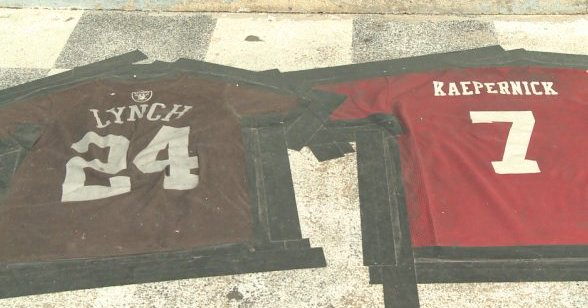 Bar Owner Uses Colin Kaepernick & Marshawn Lynch Jersey For Doormat
