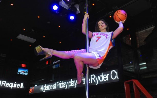 Stripper Honors Melo's time in New York with Strip Pole Dance Routine