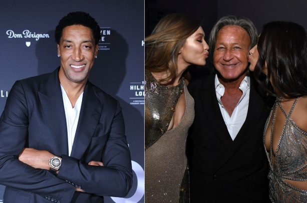 Scottie Pippen Has Lunch with Bella and Gigi Hadid's Father
