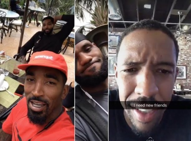 Tristan Thompson Finally Buys Breakfast for LeBron & JR Smith