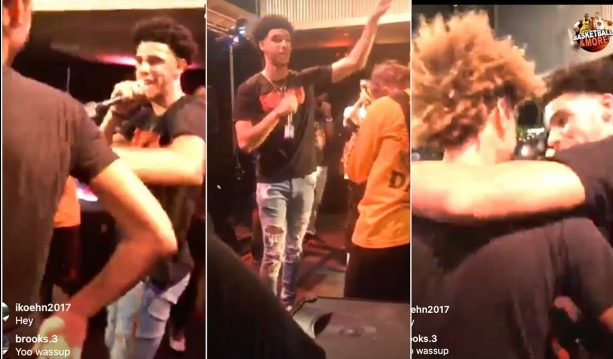 Lonzo Ball Rapping on Stage for LaMelo's 16th Birthday