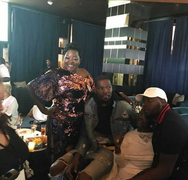 Mama's Boy Kevin Durant Throws A Surprise 50th Birthday Bash For His 'Real MVP'